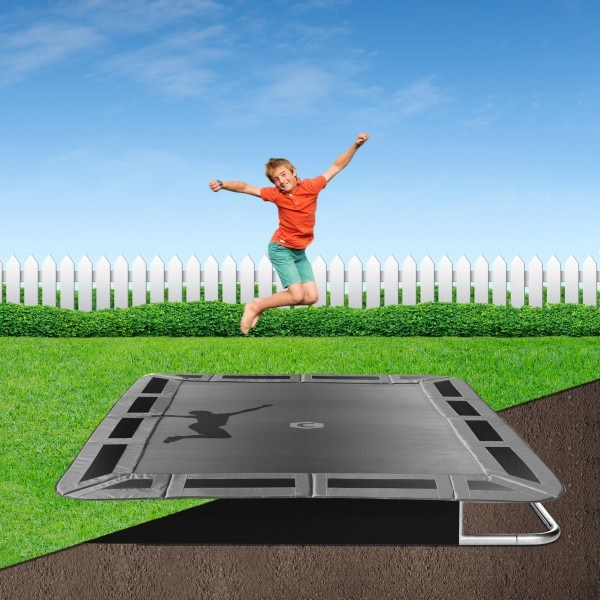 14ft X 10ft Capital Play Rectangular In-Ground Trampoline