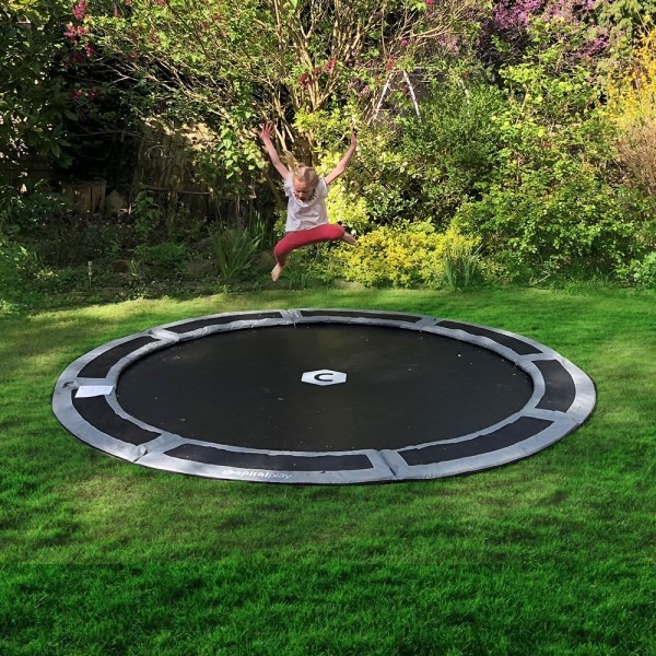 10ft Capital In Ground Trampoline Kit - Gray