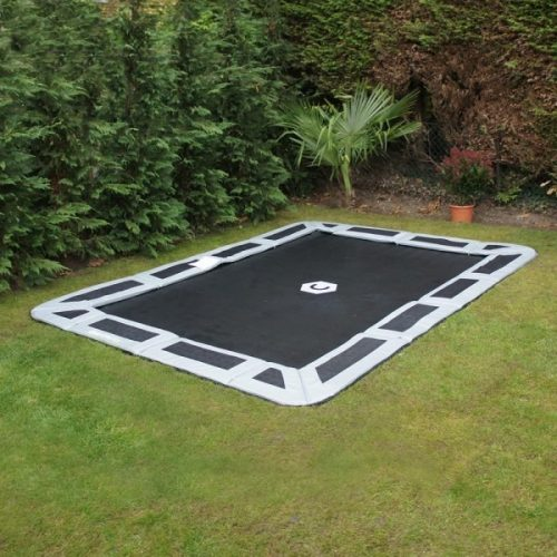 Capital Rectangular In Ground Trampoline Kit - Gray