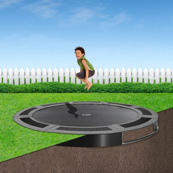 14ft x 10ft Capital In-Ground Trampoline Safety Enclosure - Corner