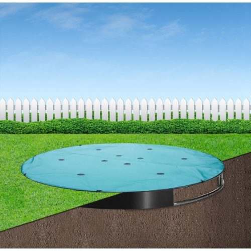 Protect your sunken trampoline from bird muck, leaves and dust. Buy a 10ft Capital In-ground Trampoline Cover from Capital Play, the in-ground trampoline specialists