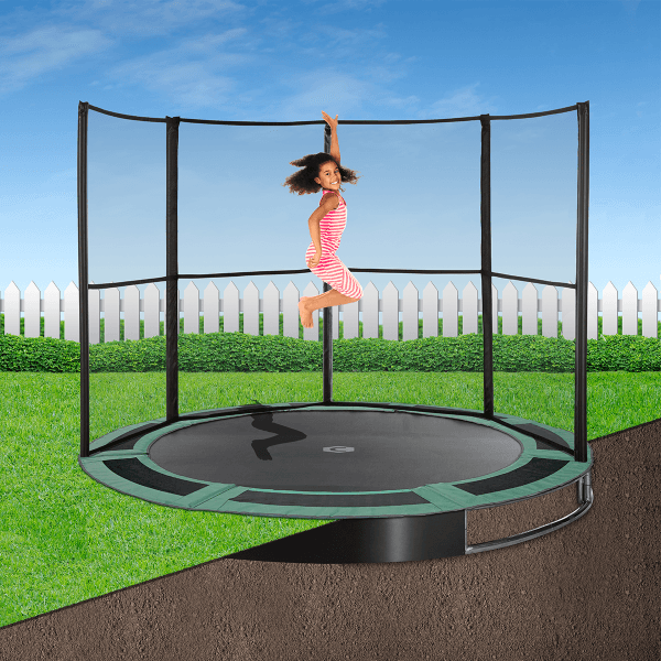 12ft Capital In Ground Trampoline Kit - Gray