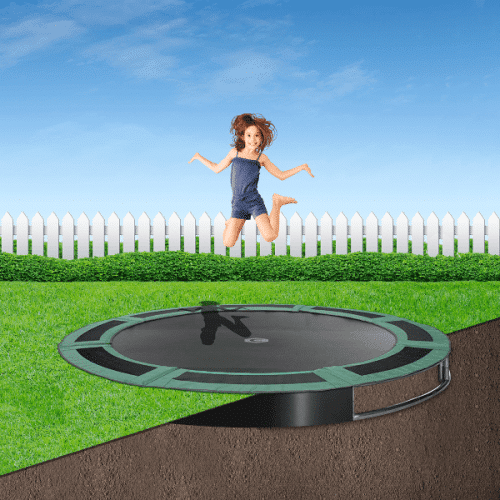 8ft Capital In Ground Trampoline Kit - Green