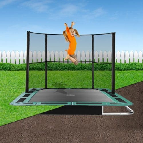 10ft x 6ft Capital In-Ground Trampoline Safety Enclosure - Side