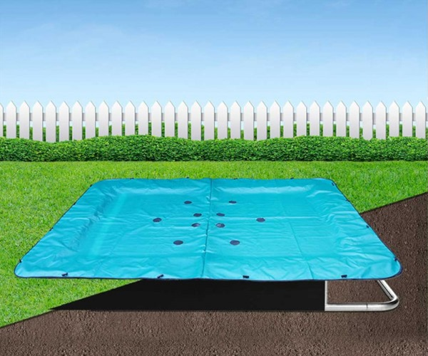 Rectangular In-Ground Trampoline Cover