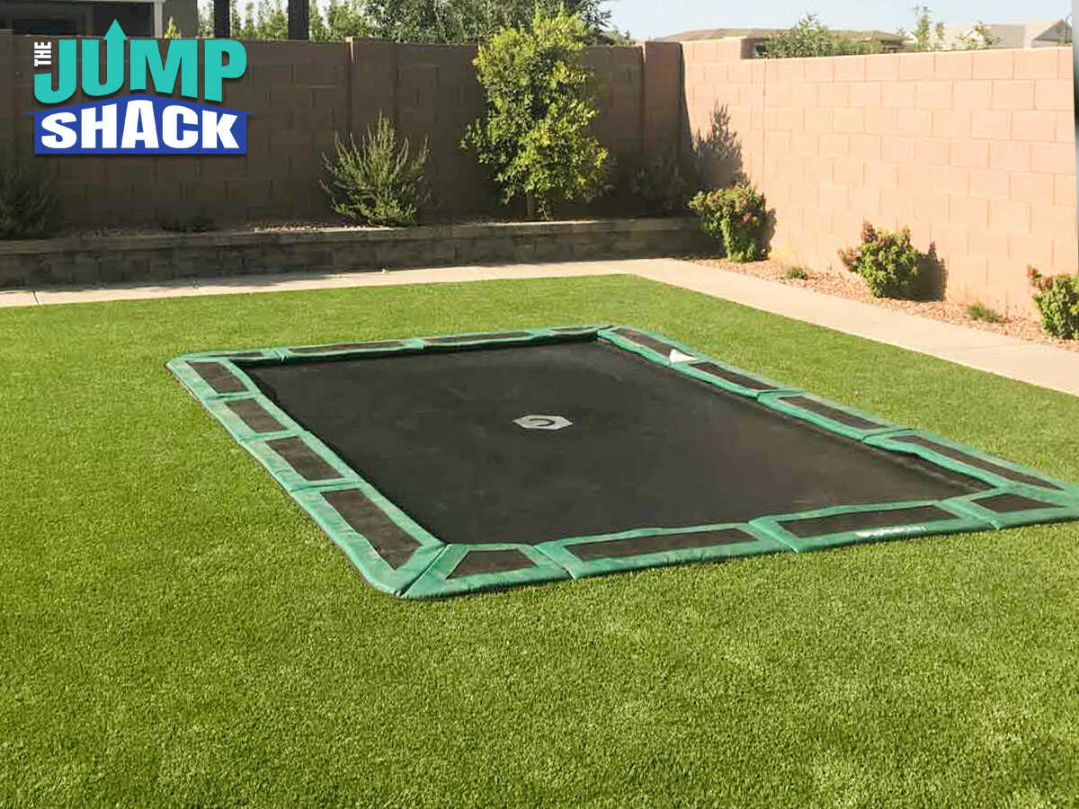 A Properly Installed in-ground trampoline in Gilbert, AZ